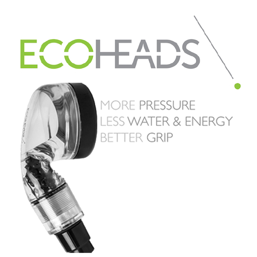 With EcoHeads, we both purify our water and reduce water usage by 65%. -