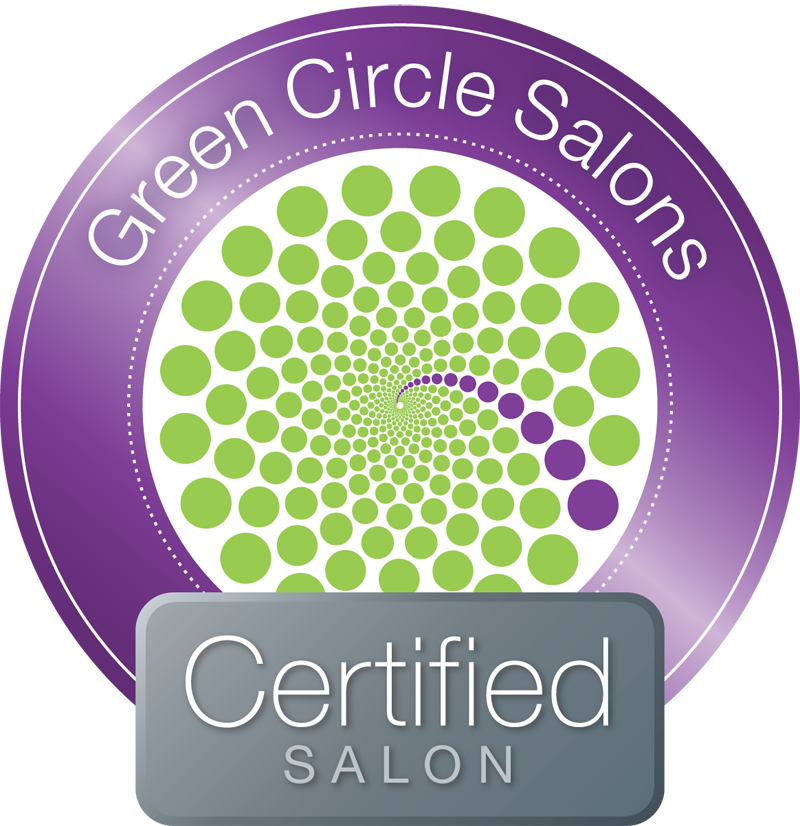 With Green circle, we recycle 95% of our salon waste, including color chemicals and hair. -