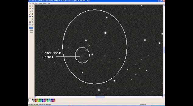 My First image of C/2011 X1 (Elenin) using ITelescope.Net