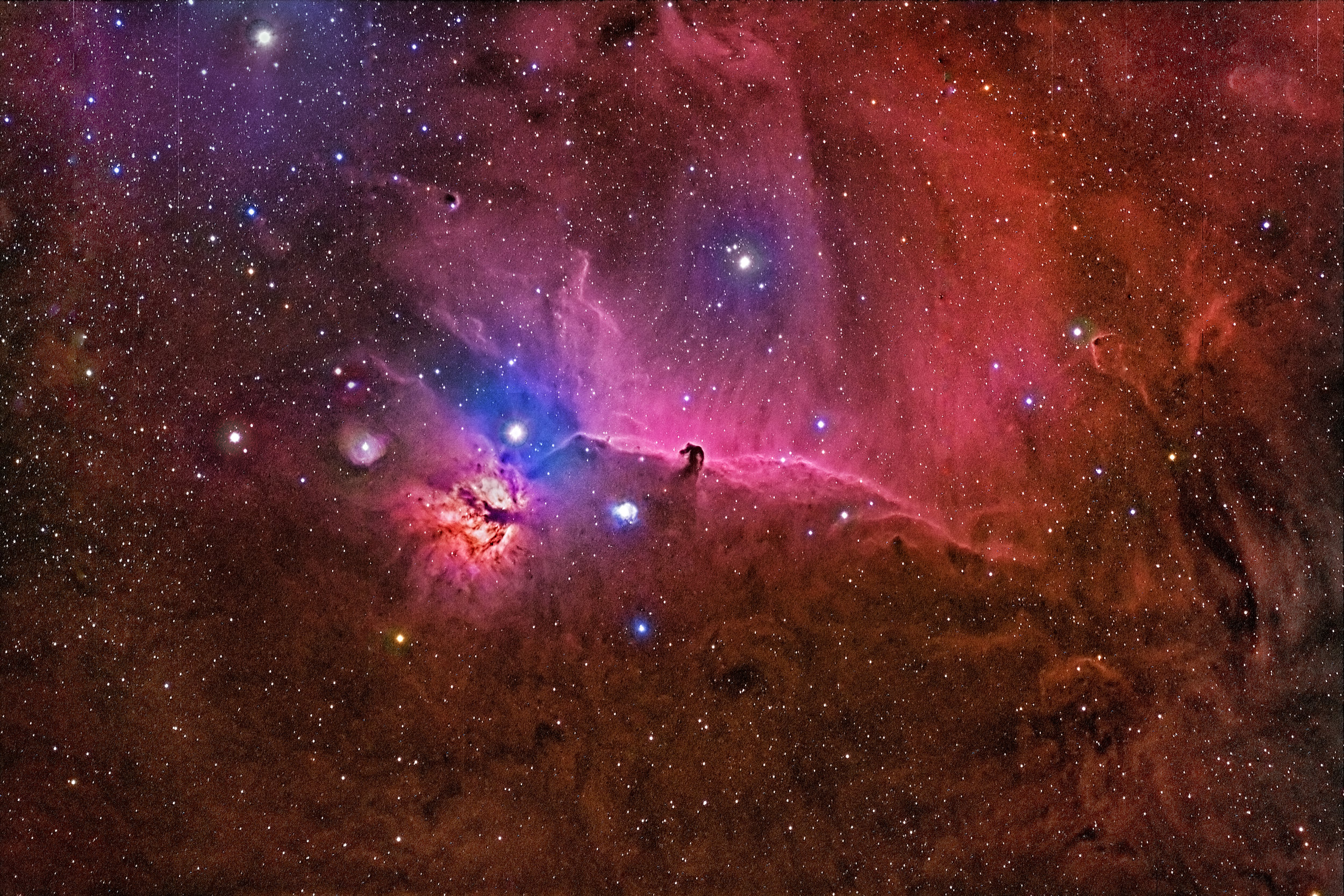 Horsehead and Flame Nebula / ITelesscope