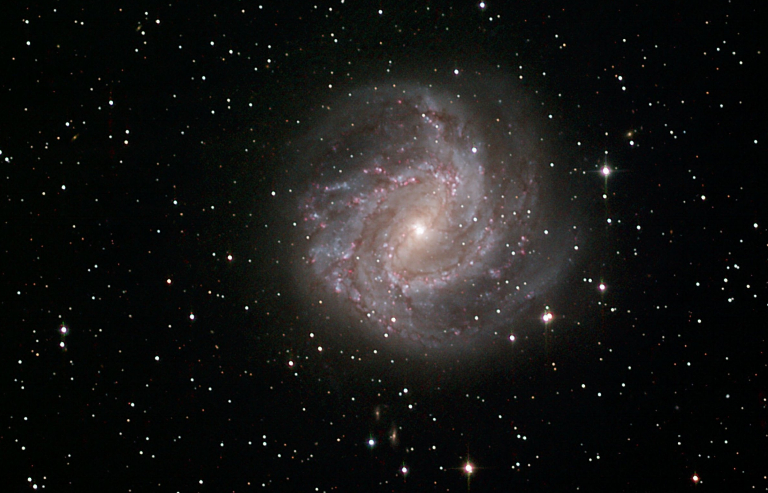 The Southern Pinwheel Galaxy processed by Mladen as part of the Masterclass taken with T31 - LRGB