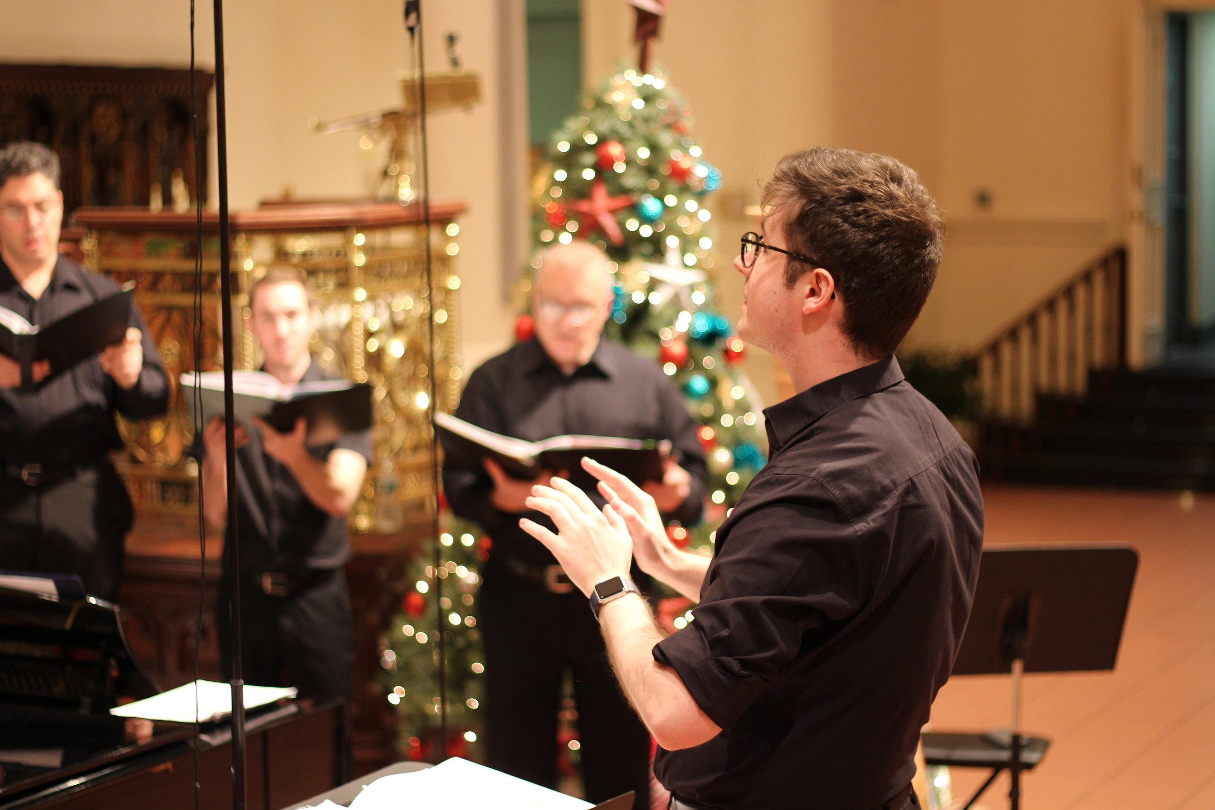Conducting the  Empire City Men's Chorus , 12.17  Photo: Michael Squitieri