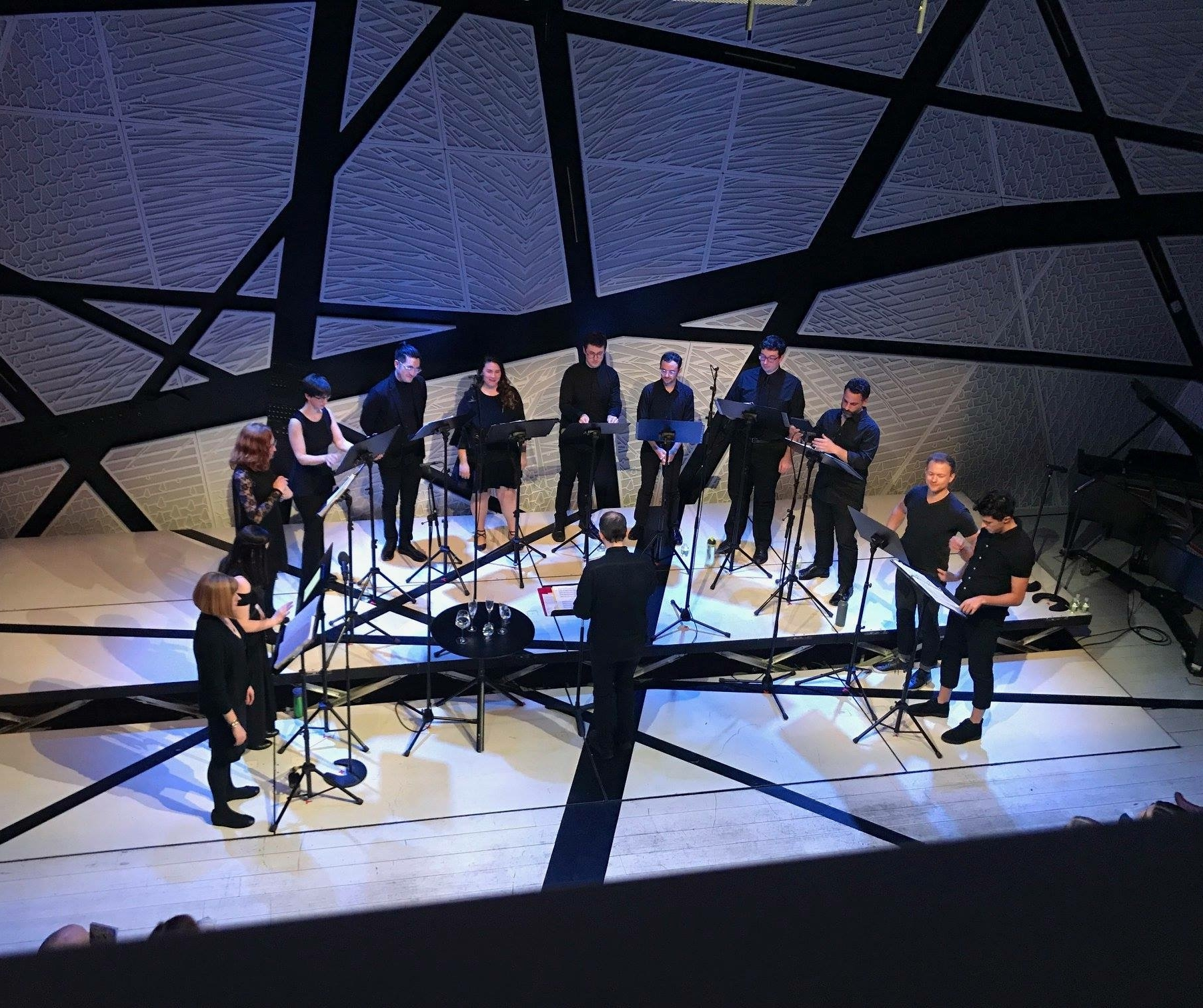 With  Choral Chameleon  at National Sawdust, 2.18  Photo - Nicole Belmont
