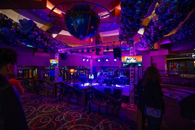 Lobby setup for the Hard Rock Casino NYE party.