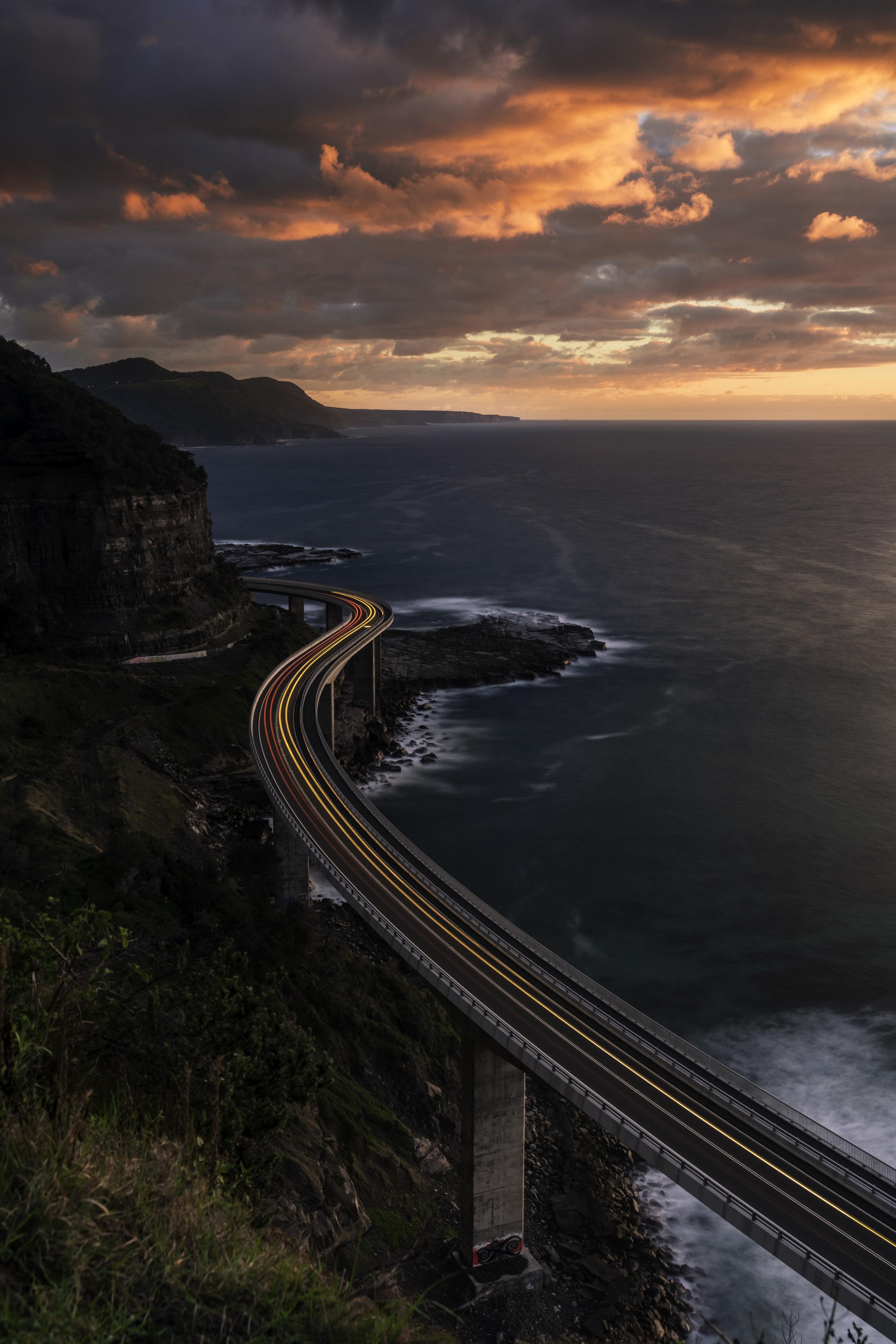 Sunrise over Sea Cliff Bridge
