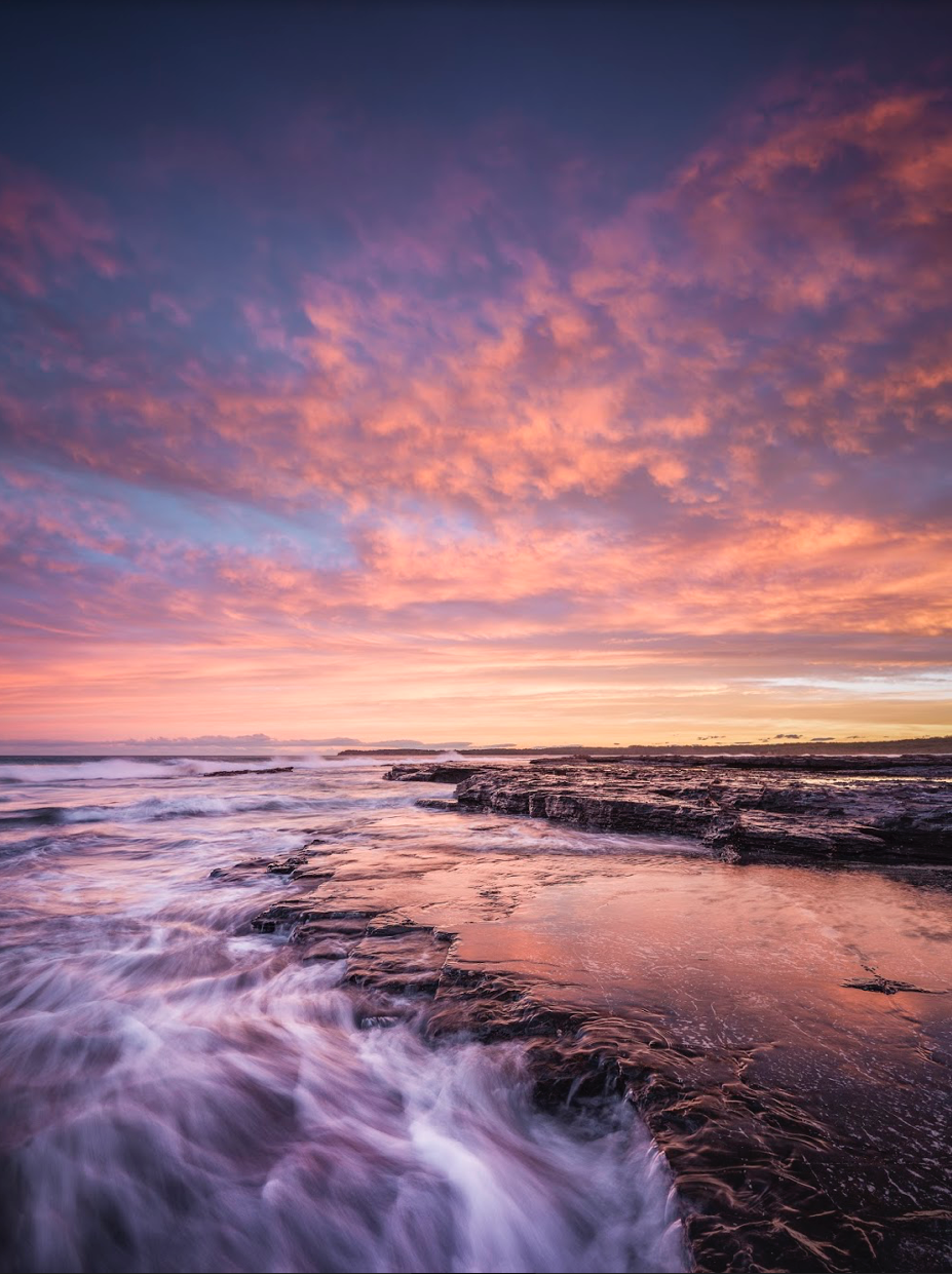 Berrara, New South Wales. Colourful skies and fast waves are a great combination if you ask me!