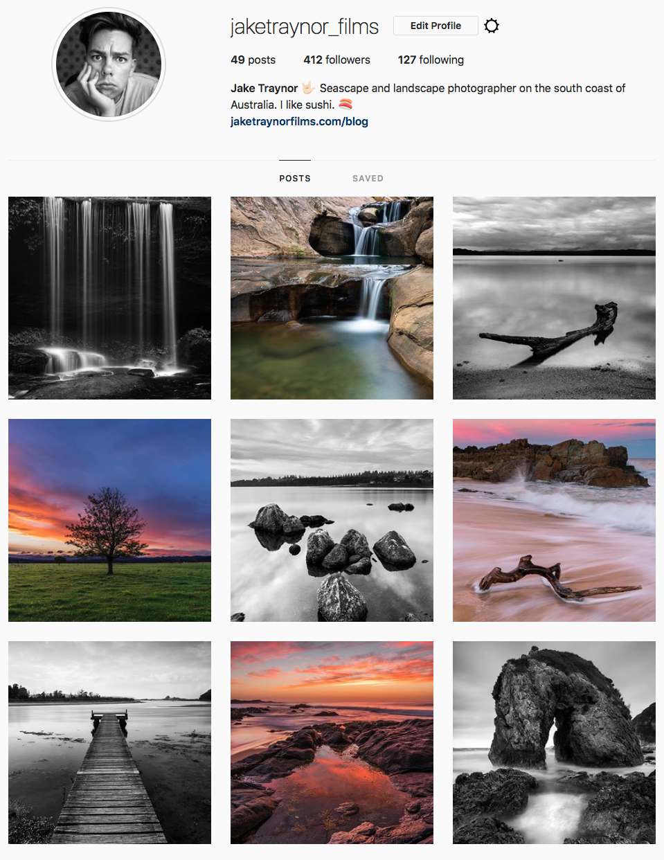 A snapshot of my Instagram page as of today.