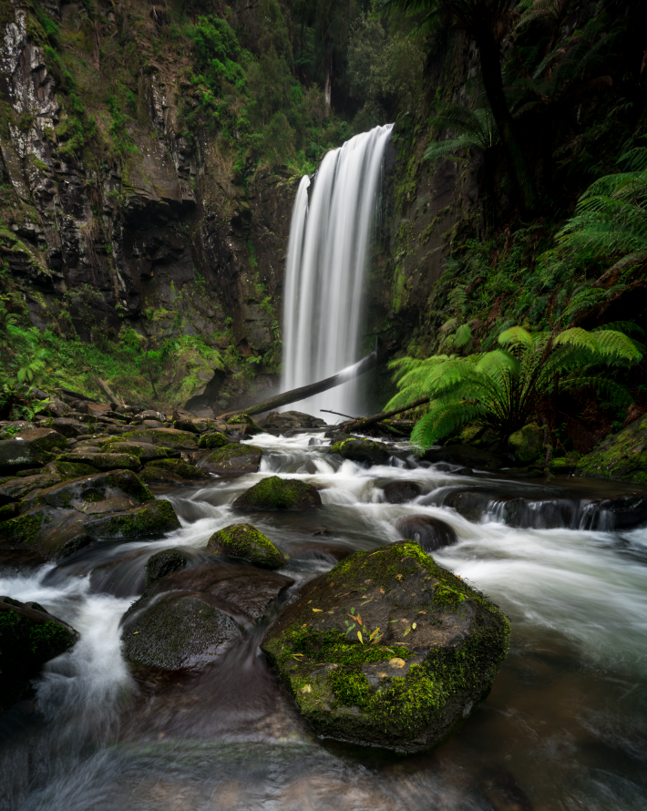 Another angle of Hopetoun Falls, but I had to get wet for this one! Just remember to be careful, wet rocks (especially those nice green mossy ones) are extremely slippery.