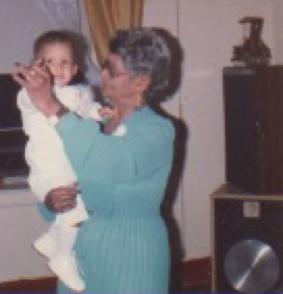 Great-Grandma & my brother