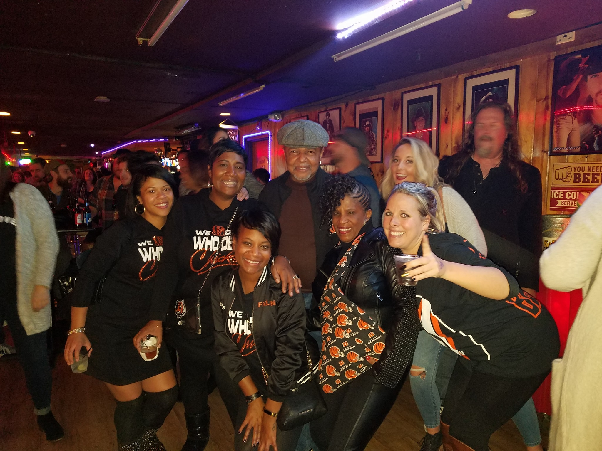Who Dey Chicks with local radio personality Lincoln Ware and his wife Pat.