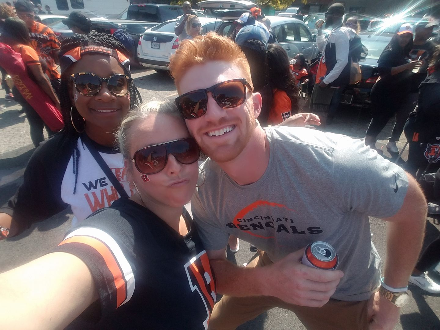 Cincinnati Bengals Andy Dalton getting in on the action!