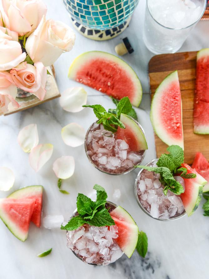 8. Fresh Watermelon Mint Julep - via How Sweet Eats