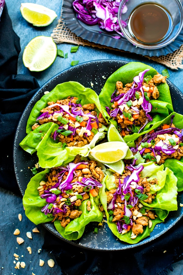 Ground Chicken Thai Lettuce Wraps - By Evolving Table
