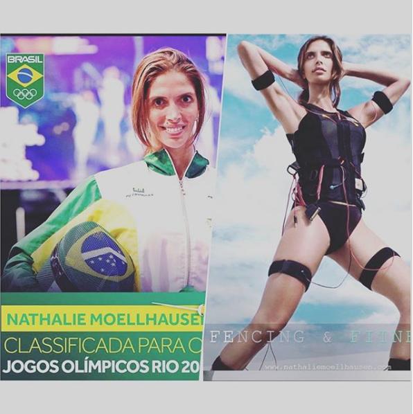 Nathalie Moellhausen- Brazilian Fencer