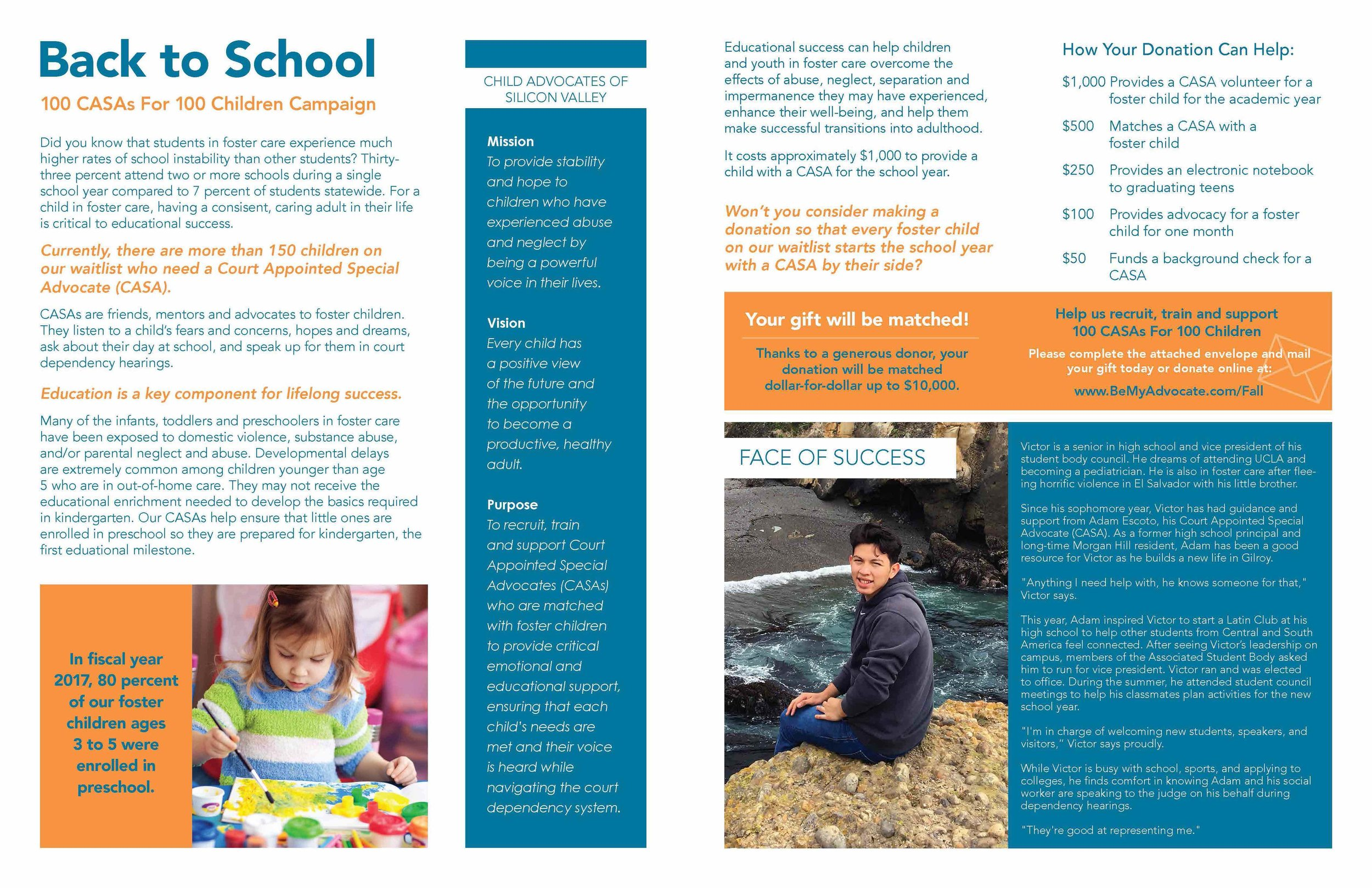 CASA Fall Newsletter  Inside spread, pages 2 and 3