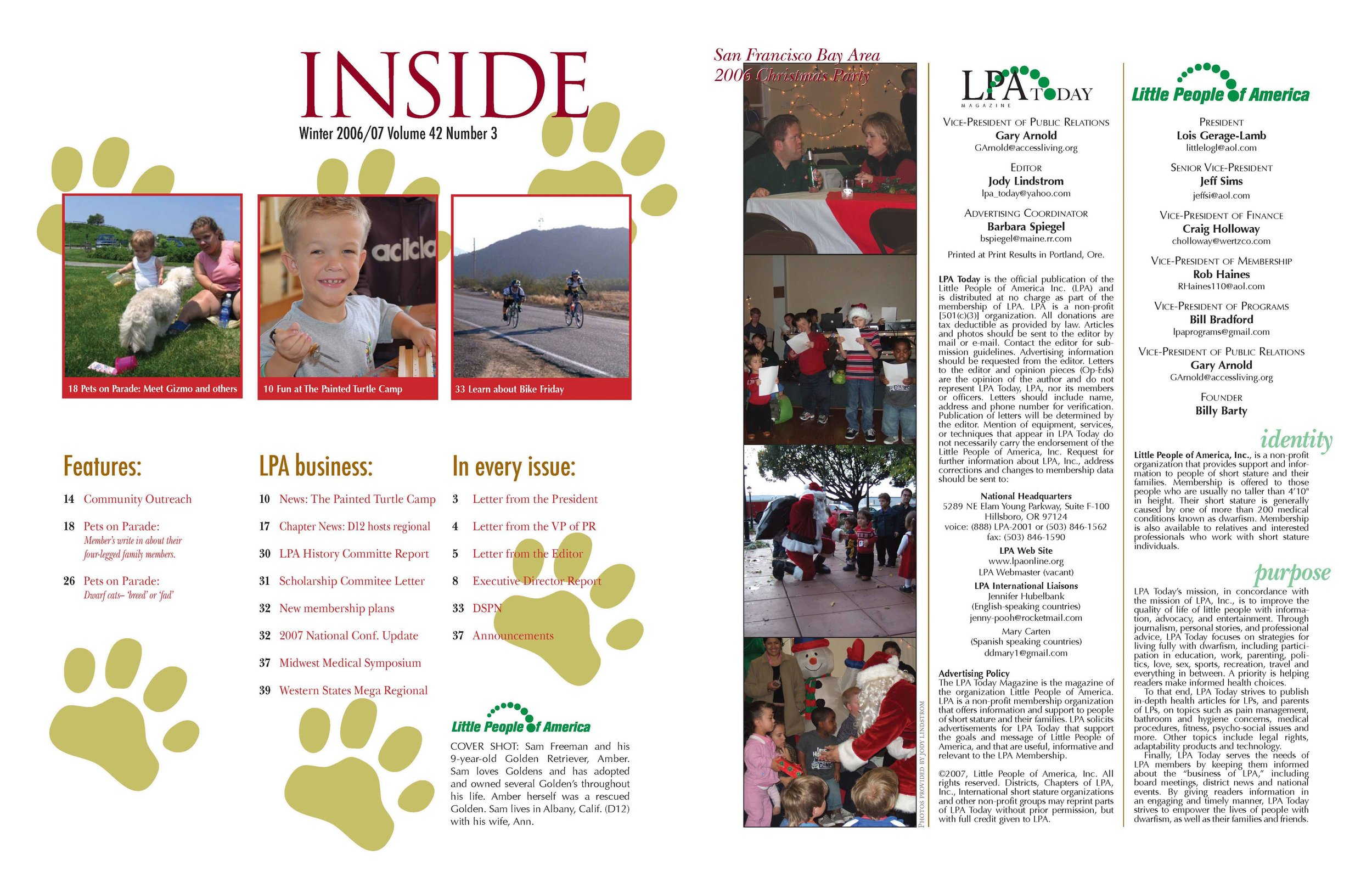LPA Today Magazine  Pages 2 and 3, Volume 42 Issue 3