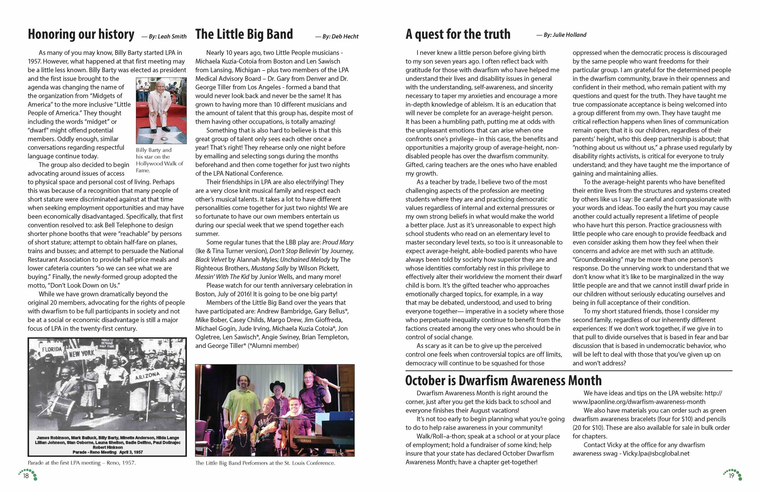 LPA Today Magazine  Pages 18 and 19, Volume 46 Issue 3