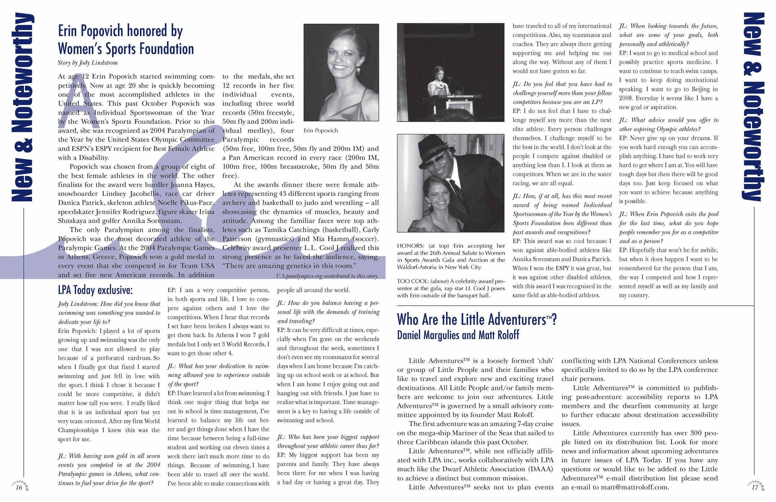 LPA Today Magazine  Pages 16 and 17, Volume 39 Issue 3