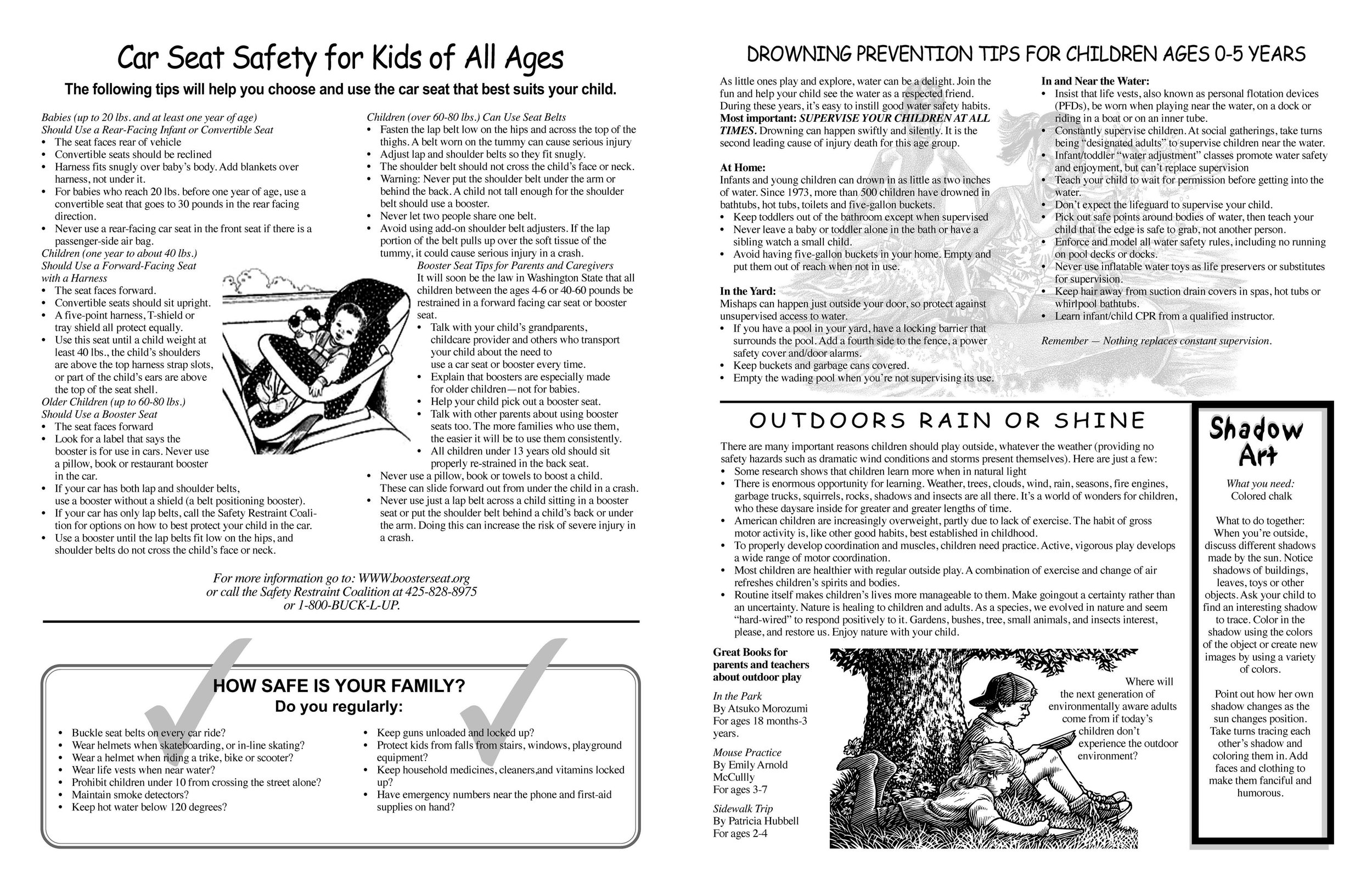 Today's Family Spring/Summer Newsletter  Inside spread, Pages 2 and 3