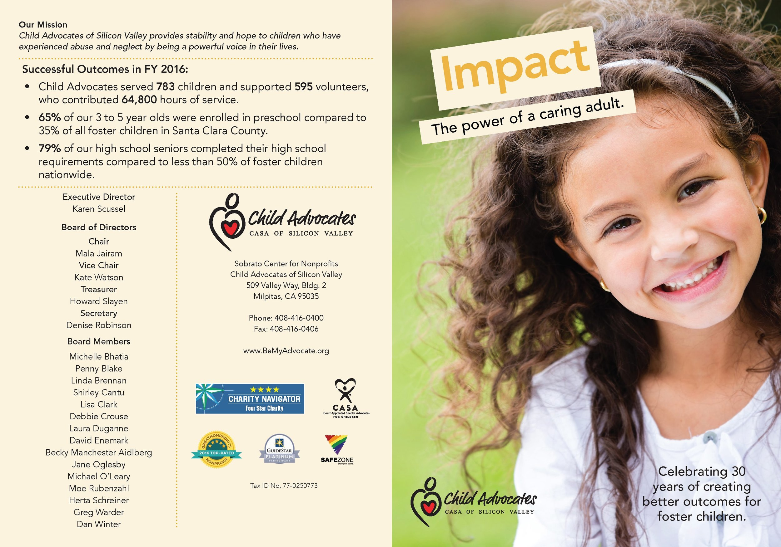 CASA Fall Appeal Card  Outside spread, pages 4 and 1