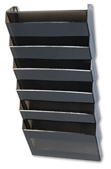An example of a wall-mounted hanging file solution.