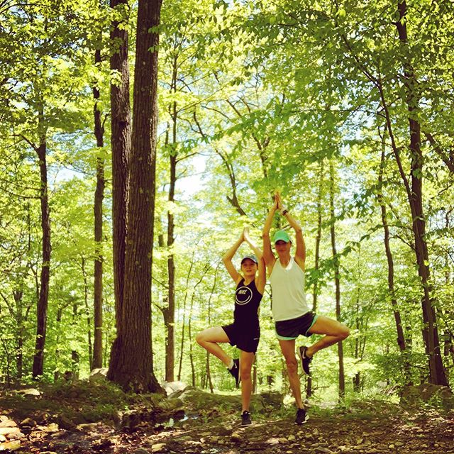 """Maybe Saturday's are for moments when you stop and say, """"I work/grind all week just for this."""" Happy to be in the sunshine with this lovebug.☀️🌿💚 • #thisislife #saturday #hike #yogini #treepose #hikeny #rocklandcounty #love #powerofshe #athleta #justgirls #yoga #yogaeverydamnday #thatsallfolks"""