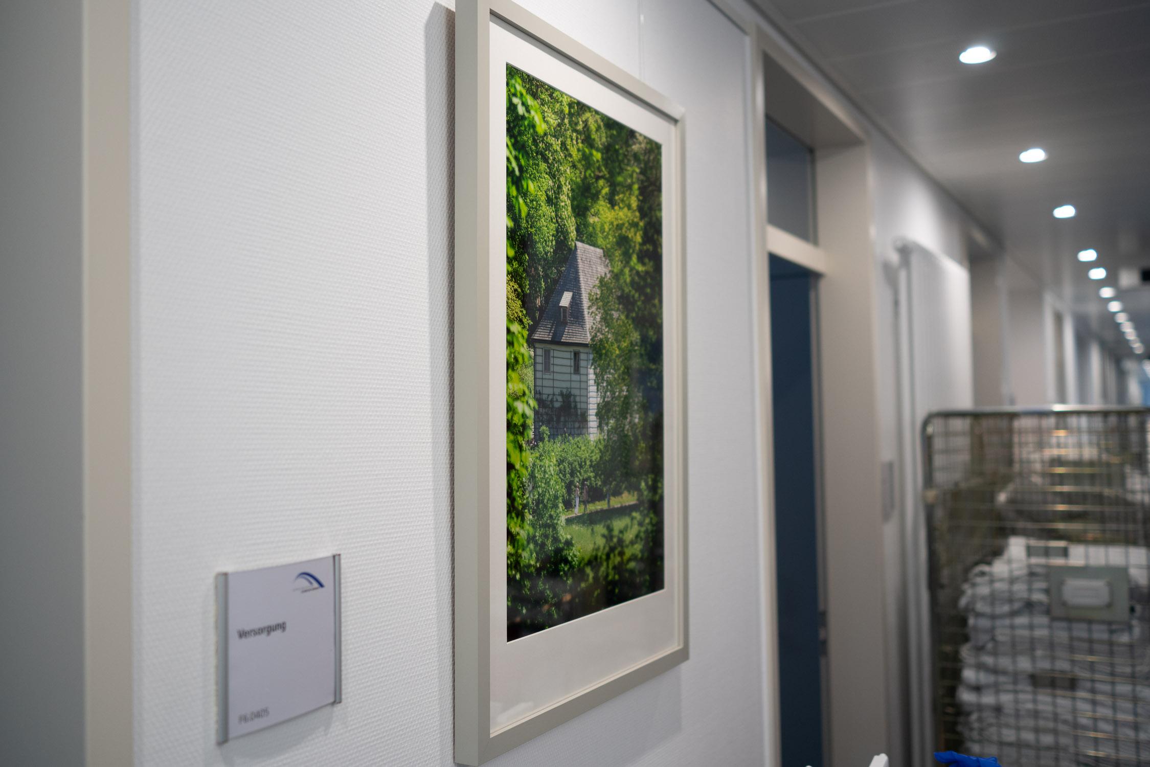 Eines von 9 meiner Bilder, welches von nun an in der neu sanierten Station im Weimarer Krankenhaus hängt.