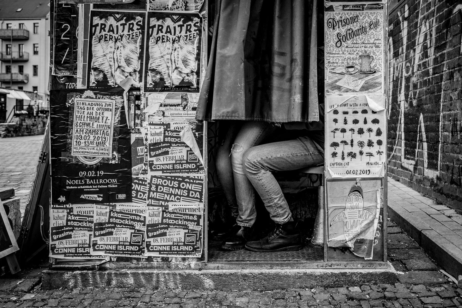 Hier eines der ersten Bilder beim Workshop. In der Straßenfotografie muss man eben auch Glück haben.