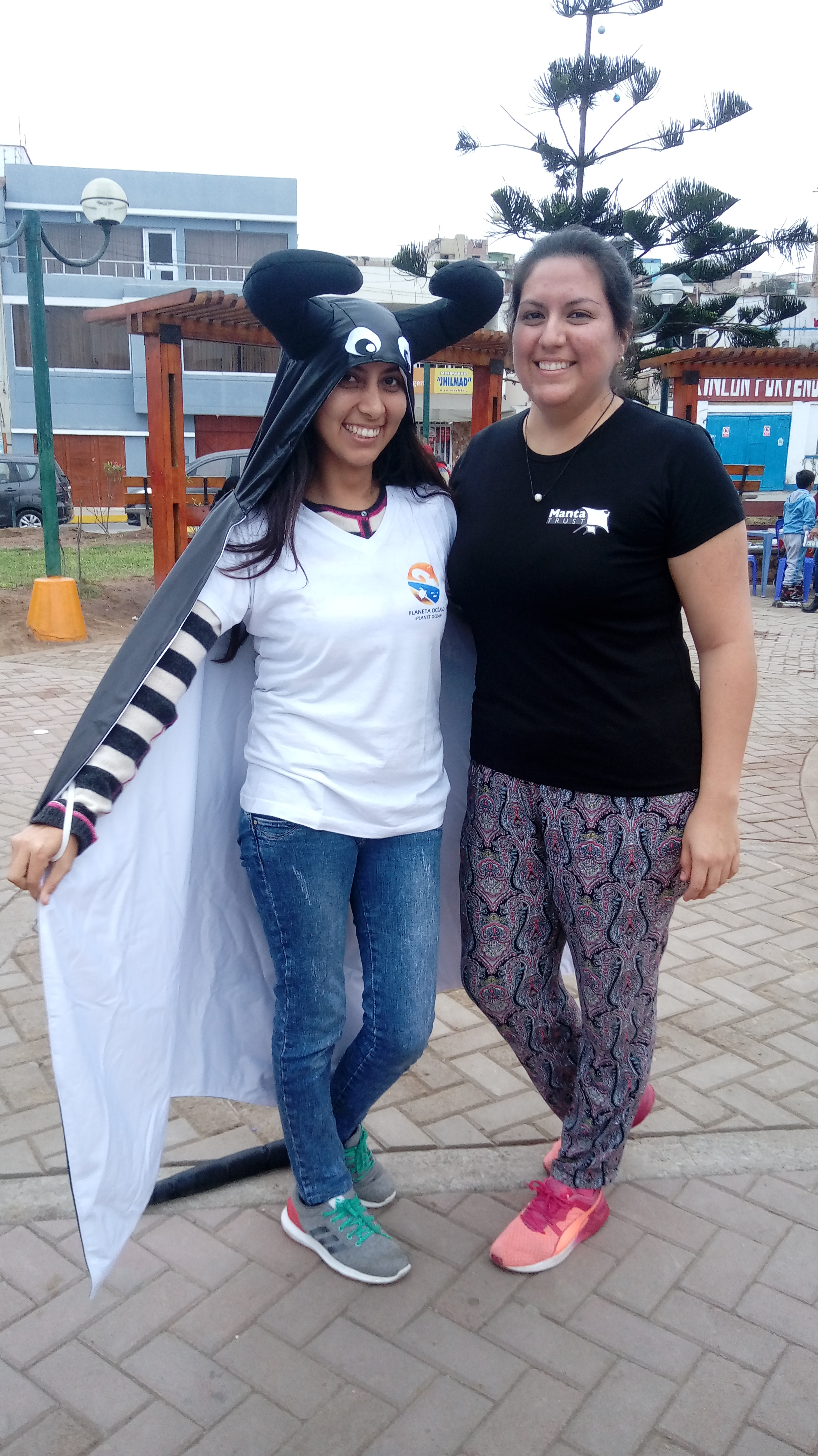 Stefany (right) runs community education and outreach programmes with several coastal communities in Peru.