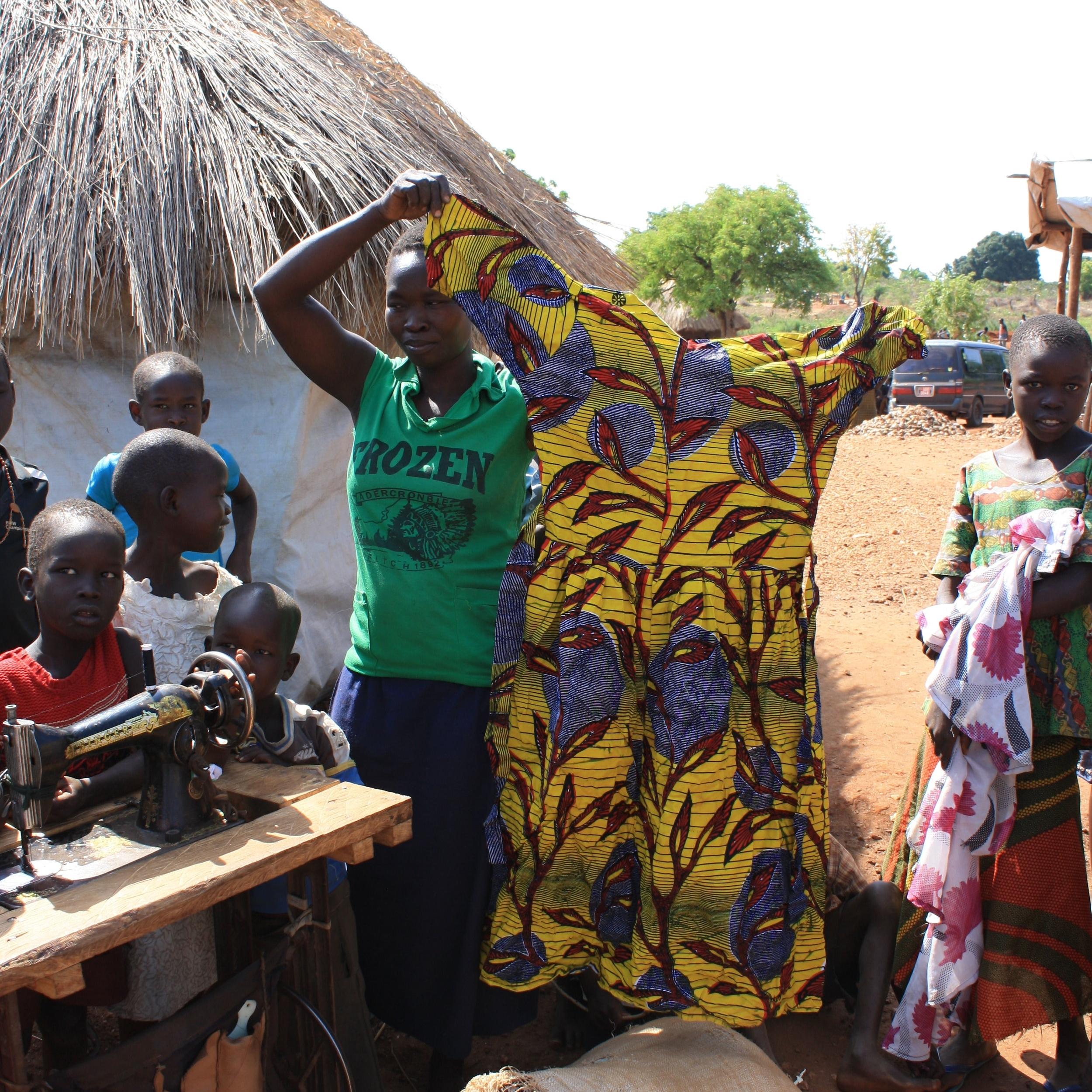 Women learning entrepreneurial skills and preserving cultural tradition in Bidi Bidi