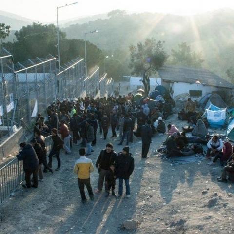Moria Camp in Lesvos Greece