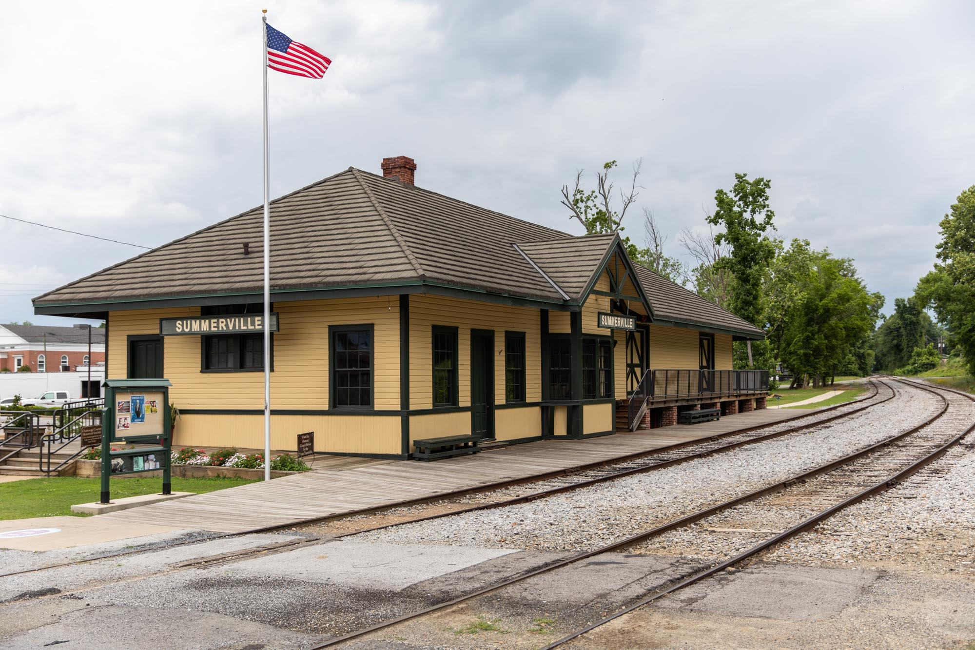 Summerville Depot, one of the stops on the Tennessee Valley Railroad.  Also home to Paradise Garden.