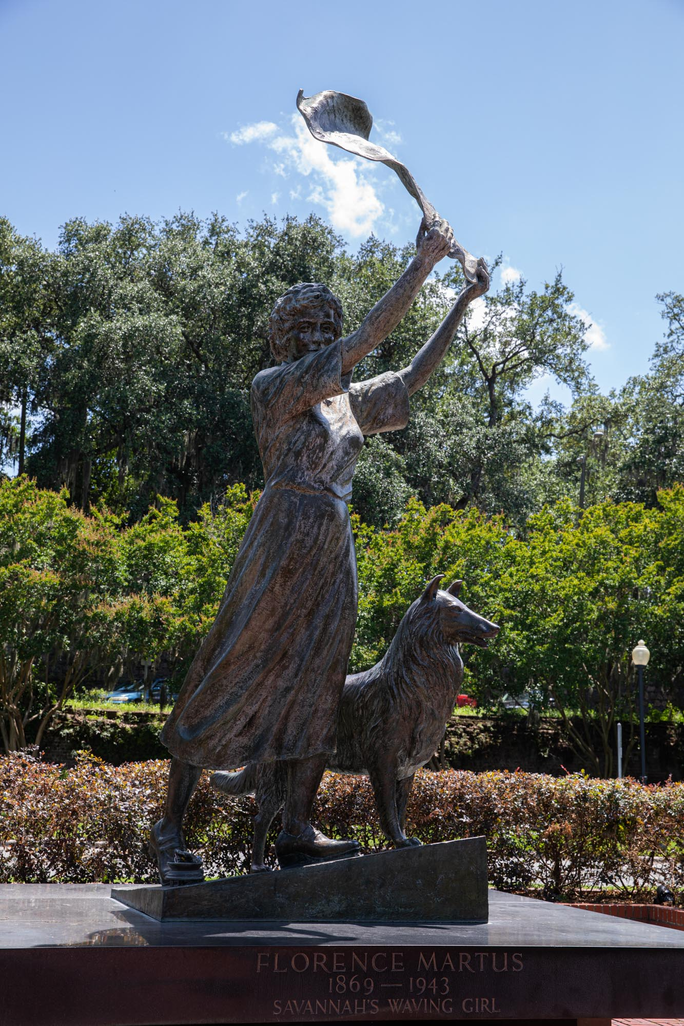Florence Martus the unofficial greeter to all ships entering and leaving the port of Savannah from 1887 to 1931.