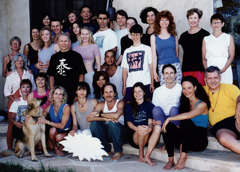 Mona's training journey begins at White Lotus in Santa Barbara, CA; 1997. Pictured/Back row, right, wearing white.