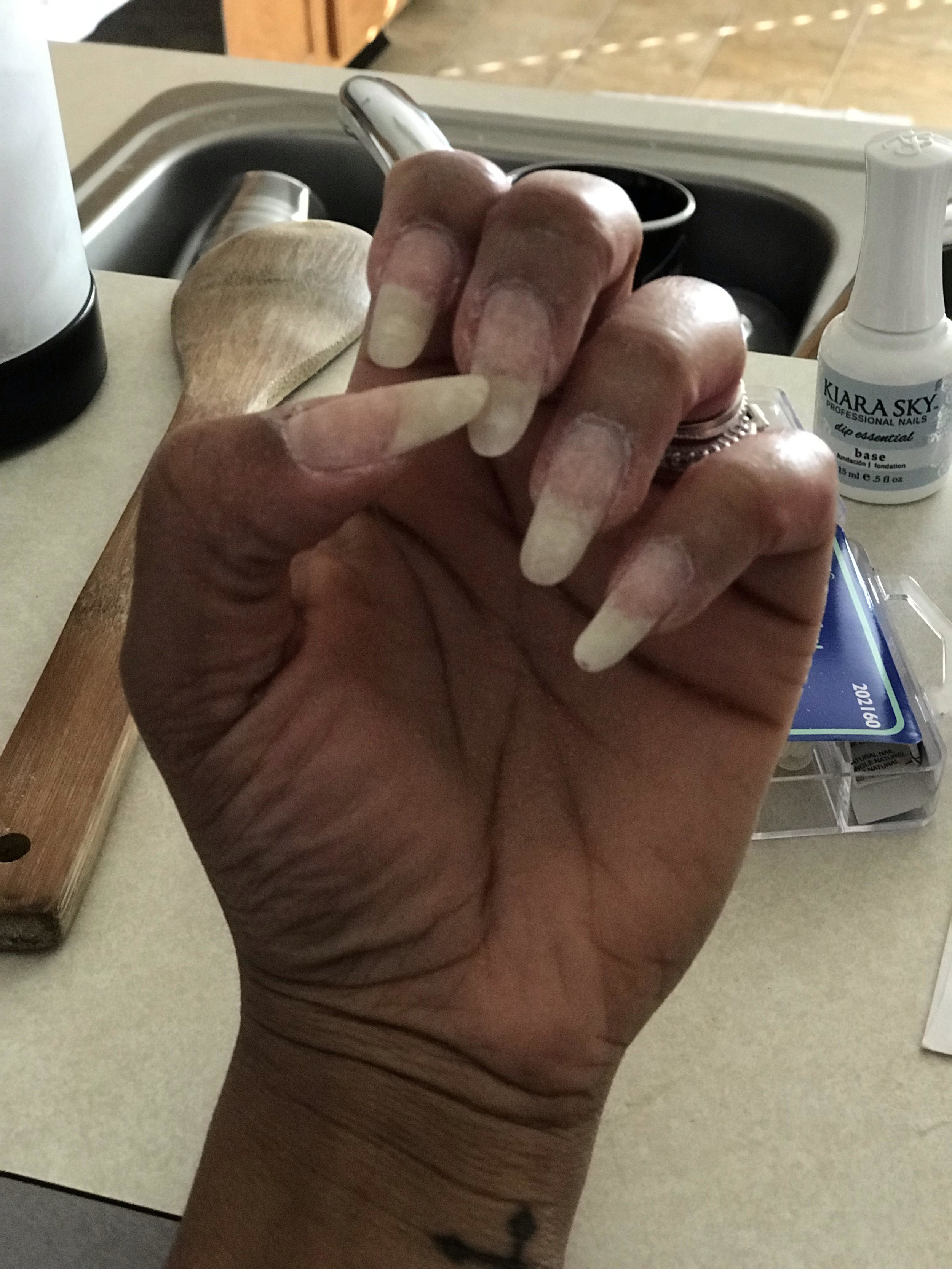 These are my real nails…SNS does wonders to my nails and length.