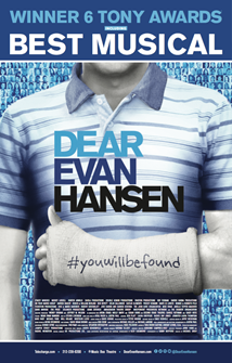 Dear Evan Hansen (Broadway)  - Original Broadway Cast - Virtual Chorus VocalistWINNER Grammy for Best Theatrical AlbumWINNER 6 Tony Awards including Best MusicalCurrently running on Broadway