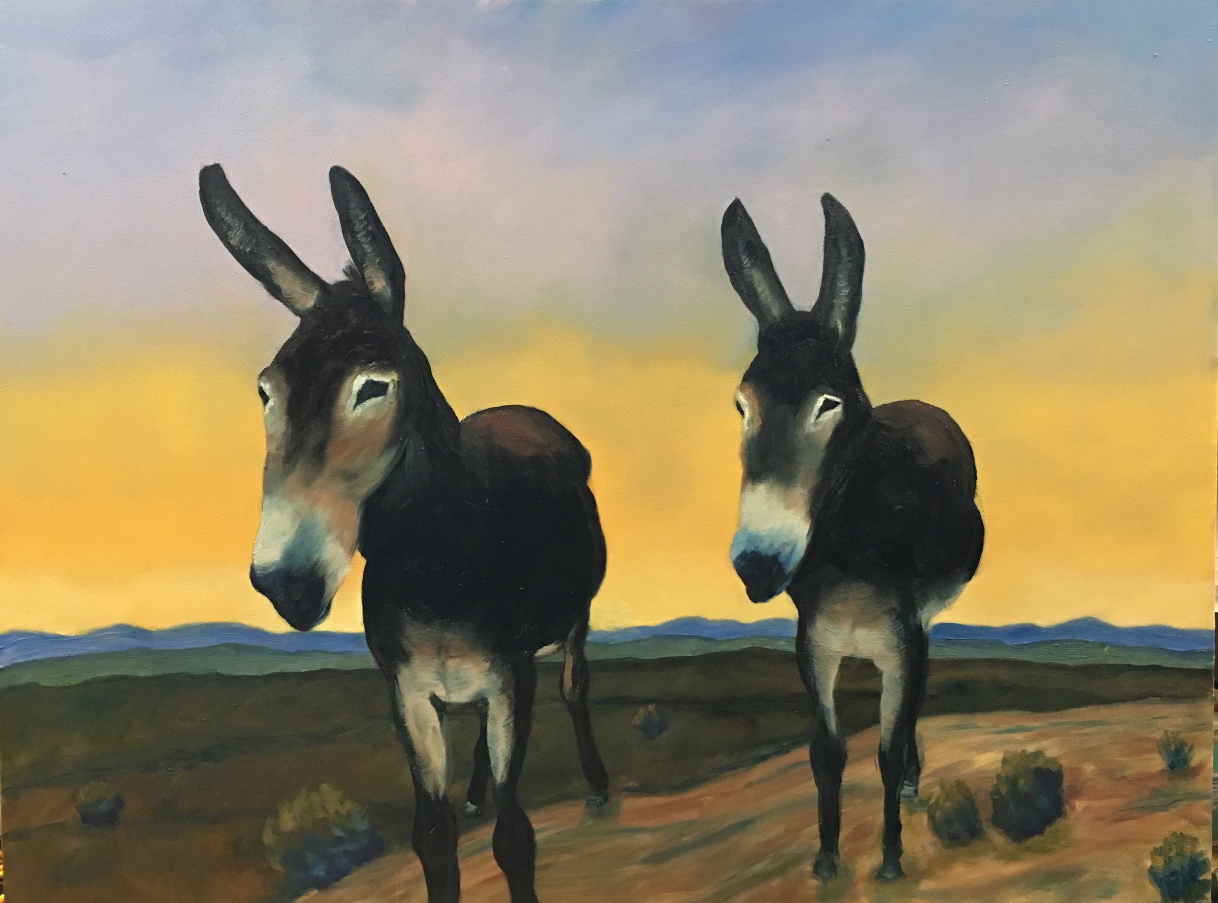 - Dos Burros | oil one canvas | 40 x 30 | 2018 SOLD