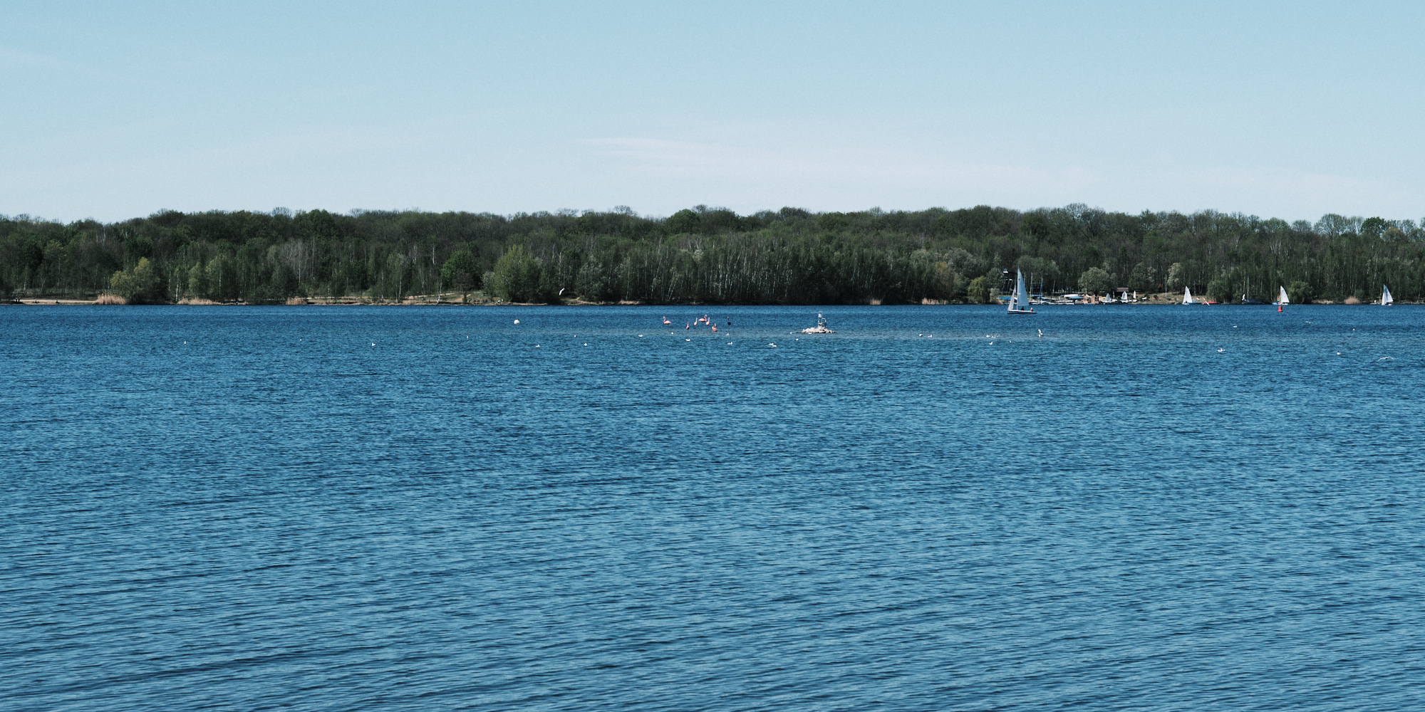 Cospudener See am südlichen Stadtrand Leipzigs