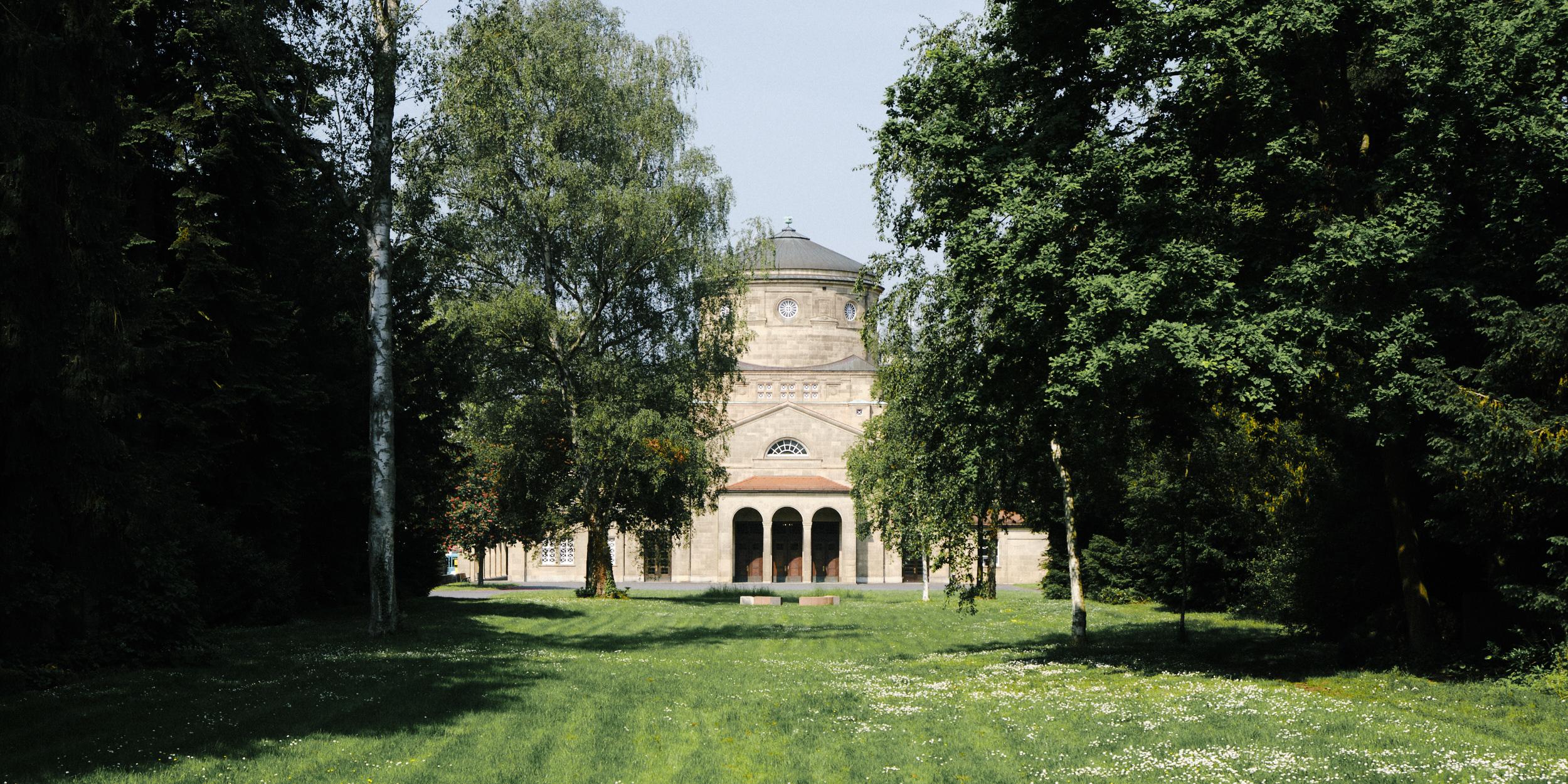 Krematorium auf dem Frankfurter Hauptfriedhof