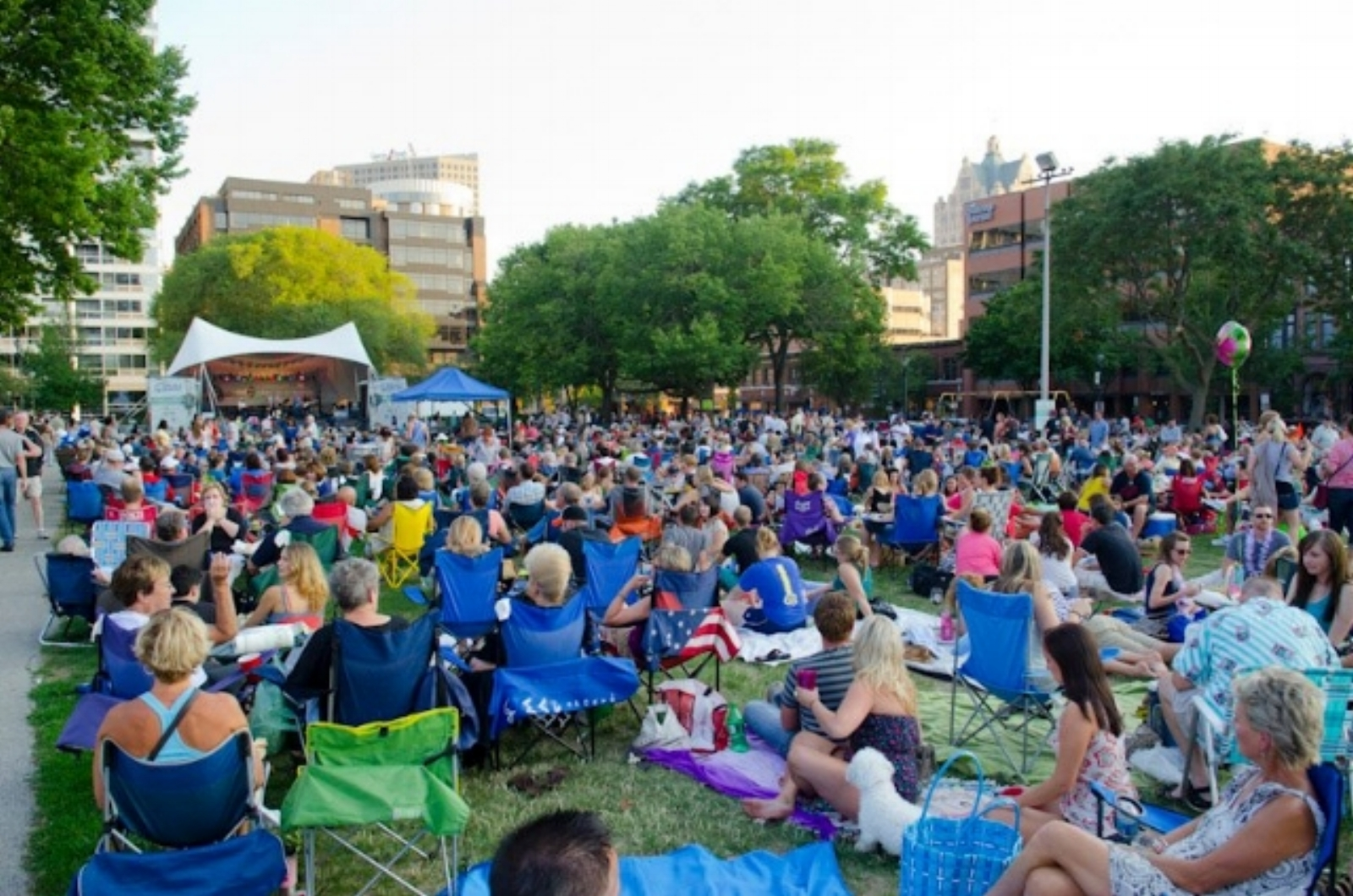 Jazz in the Park in Cathedral Square, Downtown Milwaukee