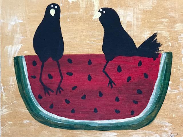 KFcrows&watermelon.jpg
