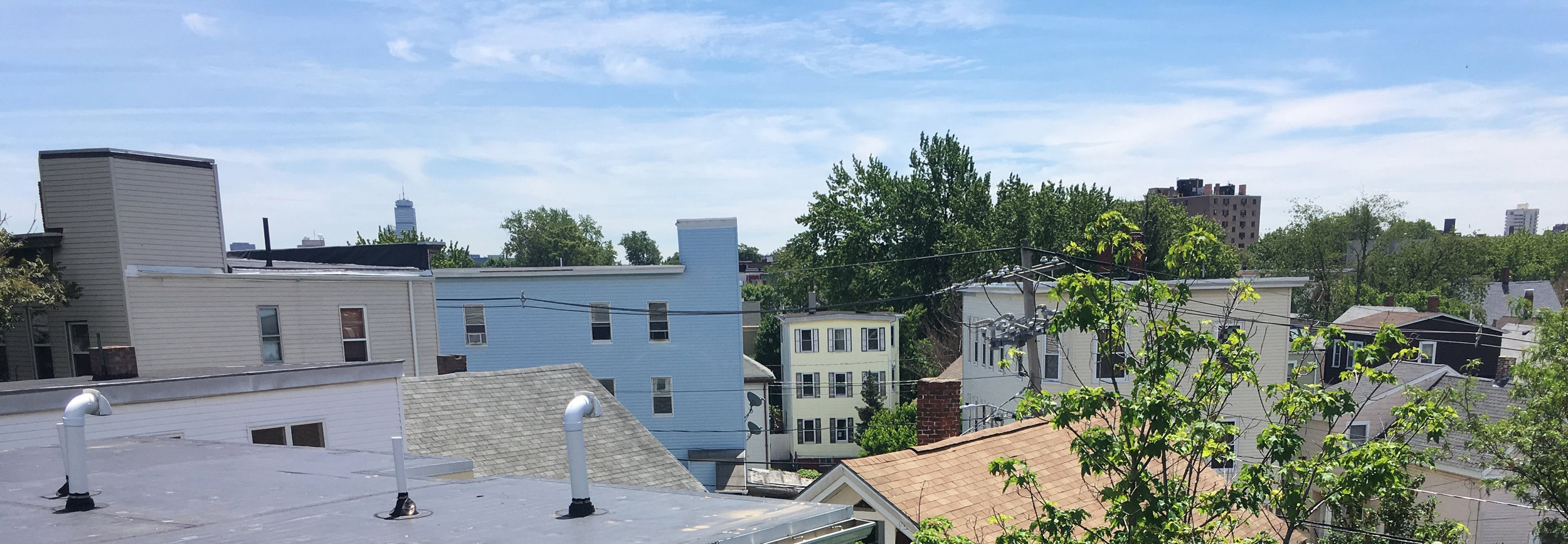 View from the roof deck