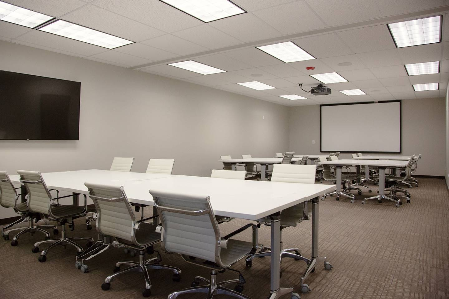Large meeting room configuration perfect for speaking events
