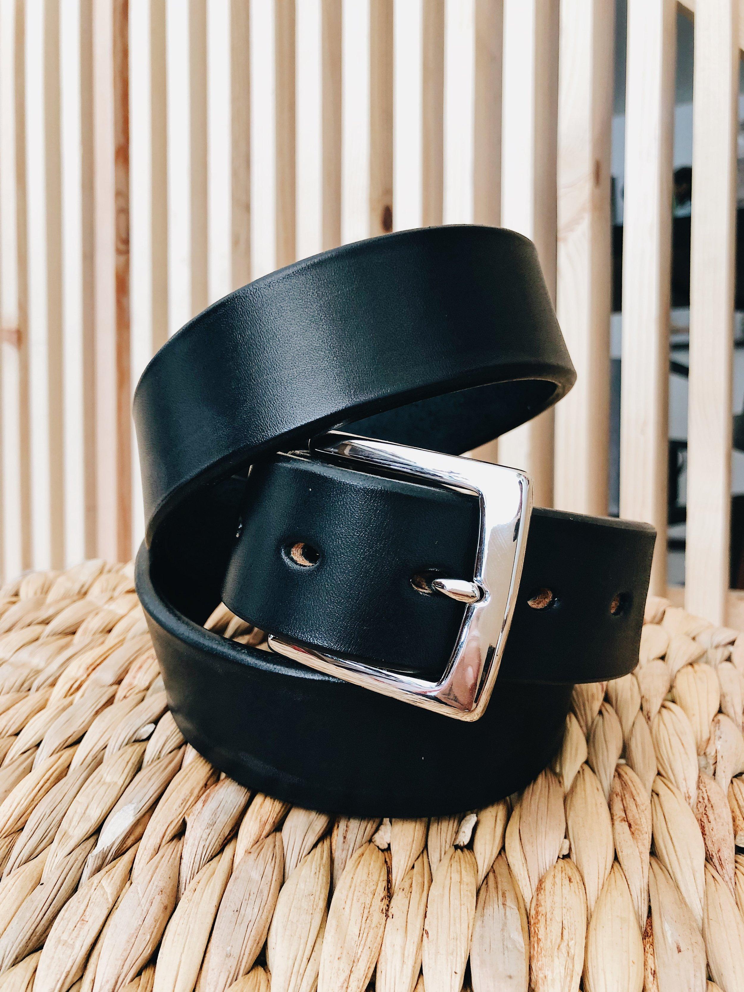 Standard Barbered Leather Belt
