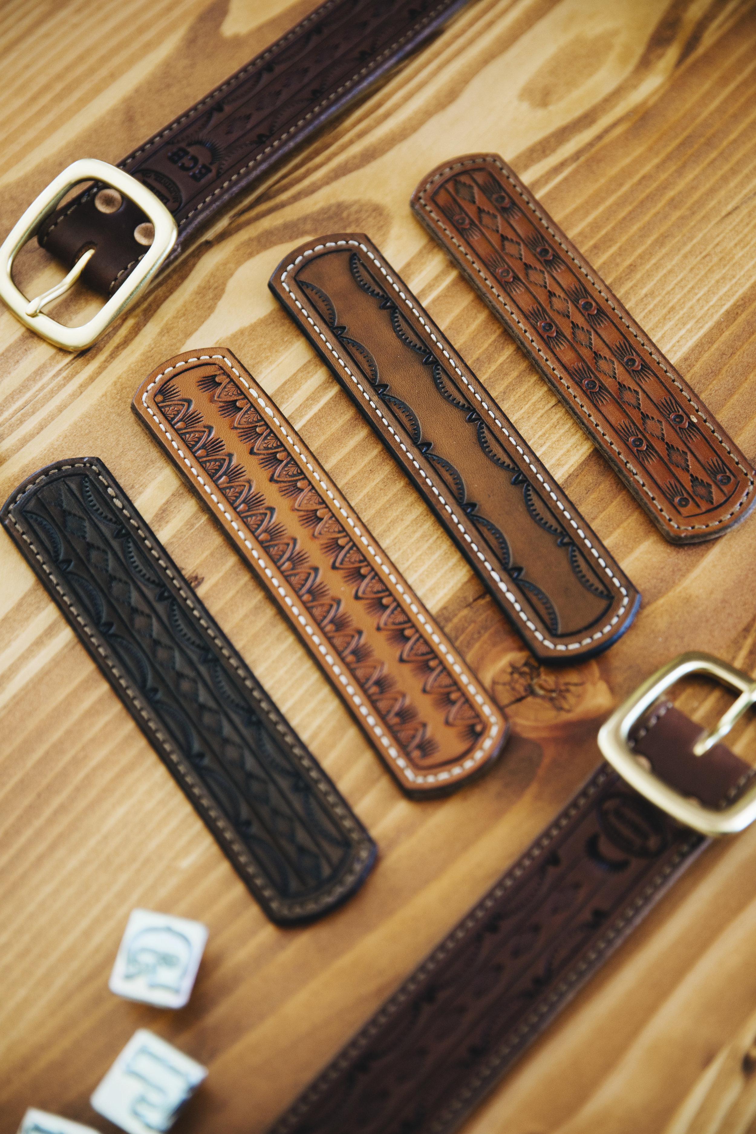 Barbered Leather Handmade Belts in Martinez California