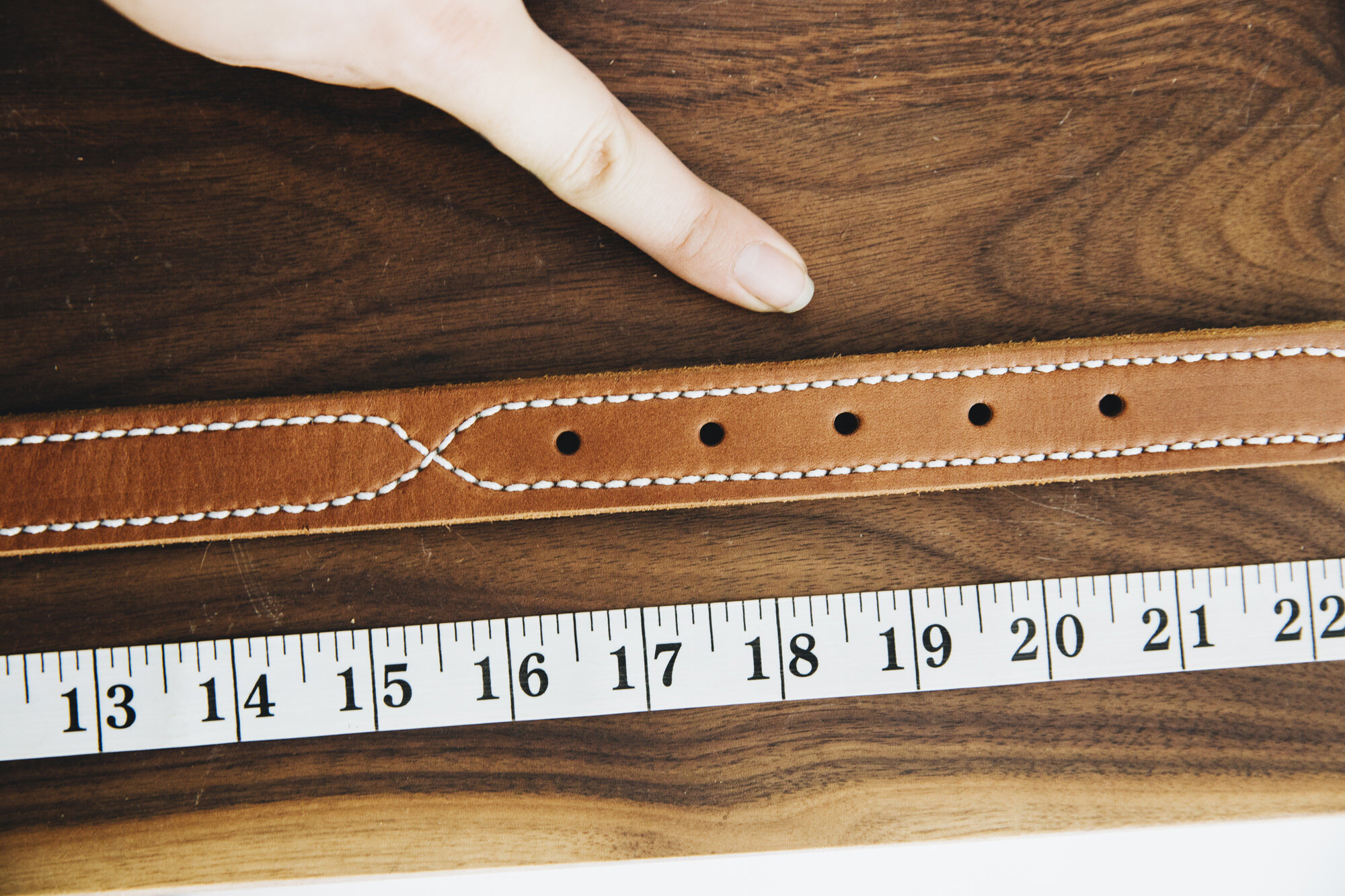 How to measure a Barbered Leather belt