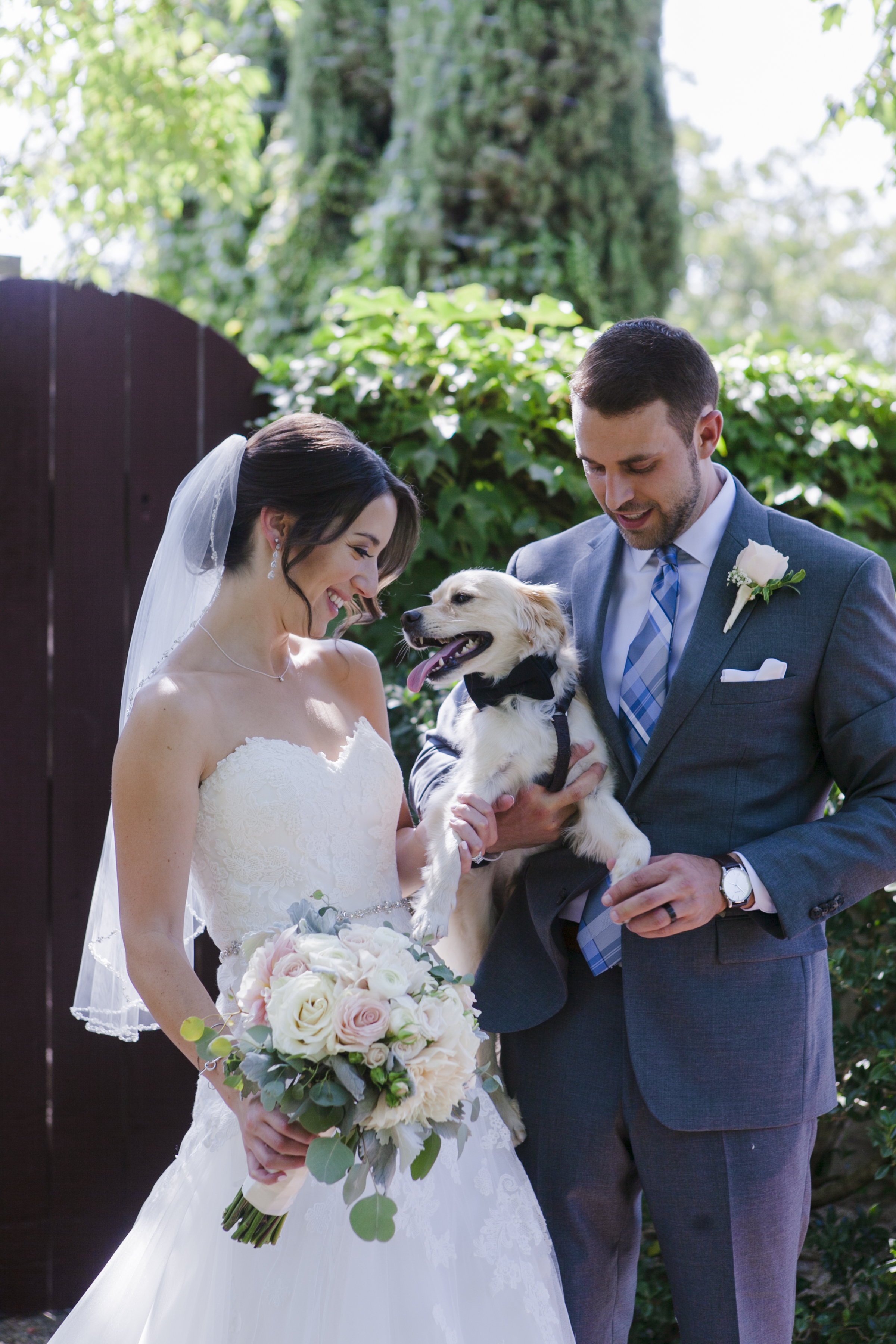 2018-08-11 Bridal Bouquet and groom with dog.jpg