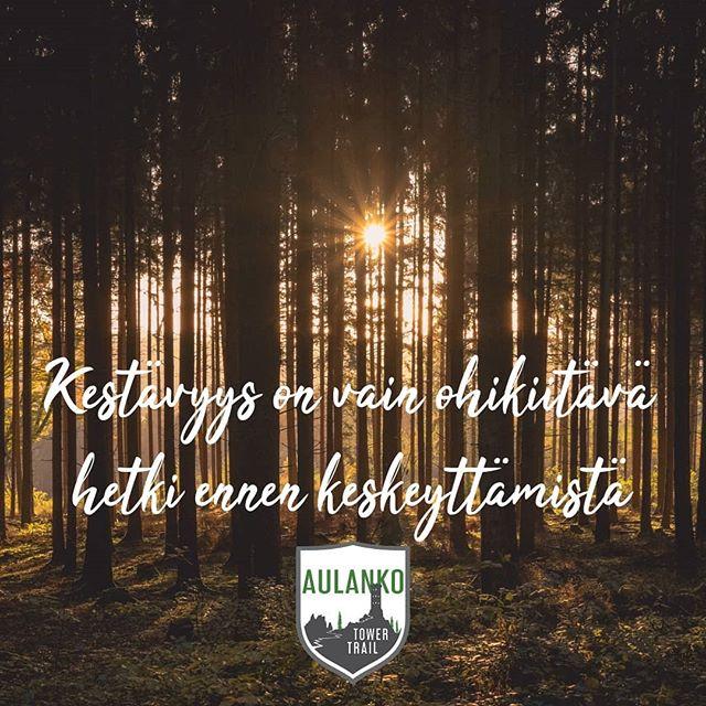 Kevätaurinko paistaa ja treenimotivaatio kohoaa lämpömittarin lukemien mukana! Kevään aikana jaamme myös muutamia perusajatuksia polkujuoksusta. #polkujuoksu #bufftrailtourfinland #trailrunning #aulankotowertrail #trailrunningfinland #trailrunningfi #kevät #motivaatio #treeni #mietelause