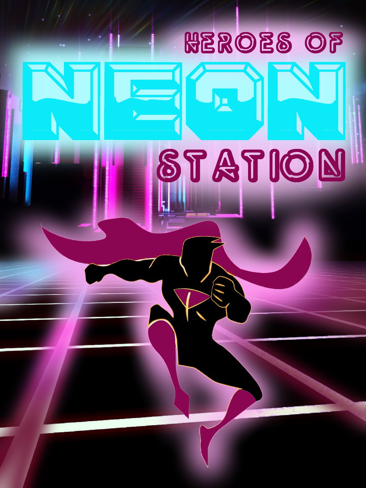 Neon Station by Brian Fields - @ADAMANTIUM_ART