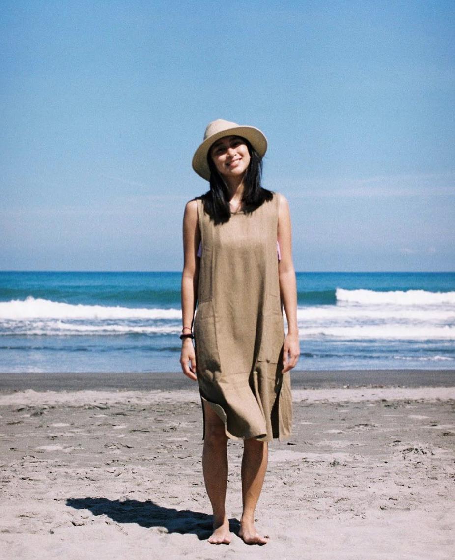 Cute CONRADO customer wearing her  Katrina Midi Dress .